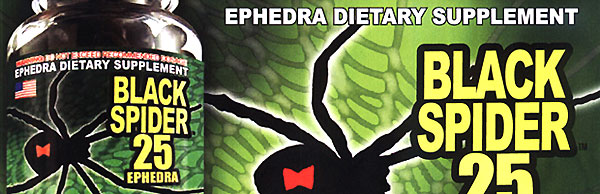 Black spider 25 ephedra Cloma Pharma