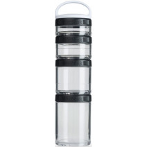 Набор контейнеров Blender Bottle GoStak STARTER Black (4 контейнера с ручкой) - atletmarket.com.ua