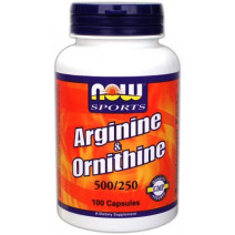 Arginine Ornithine NOW (100 капс.) - atletmarket.com.ua