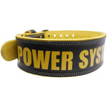 Пояс кожаный Power System Power BEAST PS-3830 (Black-Yellow) - atletmarket.com.ua
