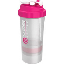 Шейкер SpiderBottle Mini2Go WHITE Pink (500 мл + 2 контейнера) - atletmarket.com.ua