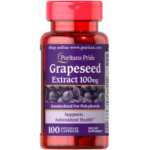 Grapeseed Extract 100MG Puritan's Pride (100 капс.) - atletmarket.com.ua