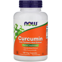 Curcumin extract 665 mg NOW (120 капс.) - atletmarket.com.ua