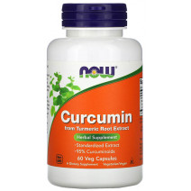 Curcumin extract 665 mg NOW (60 капс.) - atletmarket.com.ua